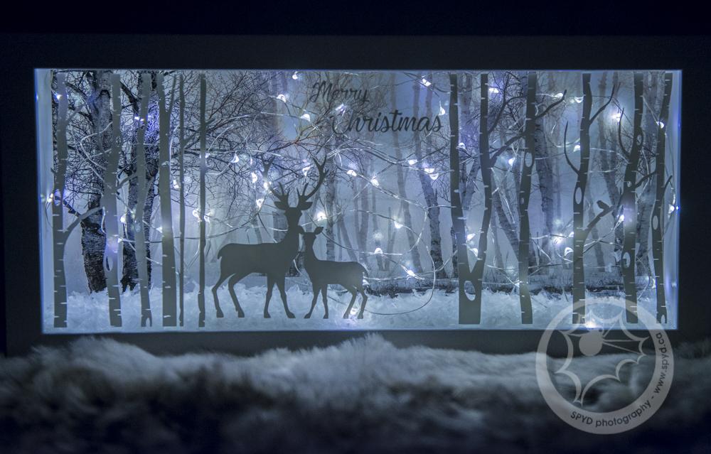 Christmas Shadow Box With Lights Craftyjenn